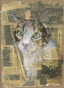 cuadro gato oleo oil huile