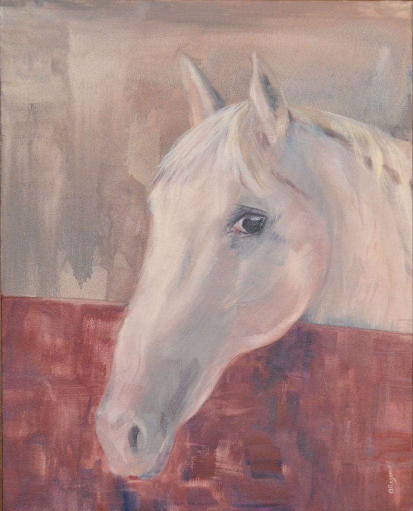 cuadro caballo horse cheval oleo oil huile