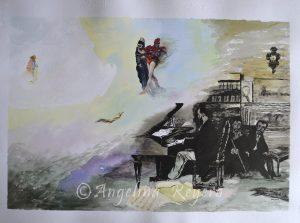 cuadro tinta acuarela aquarelle